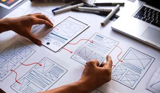 App design wireframe